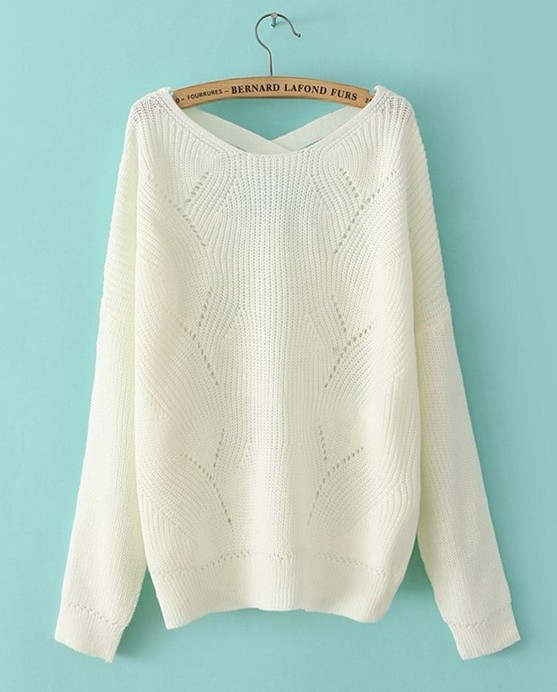 White Fashion Fresh All-match Candy Color Loose Leisure Pullover ...